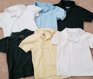 👦 Size 5 / 6 Boys Polo School Shirts Bundle of 6
